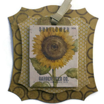 Floral, Sunflowers, Scrapbook Embellishment, Paper piecing, gift tags, Scrapbooking Layouts, Cards, Mini Albums, brag book, Paper Crafts