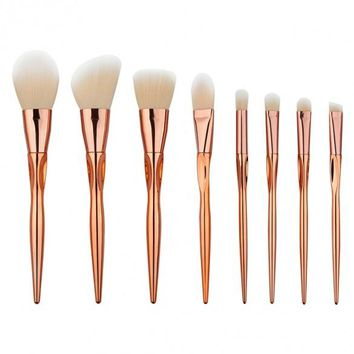 8pcs Makeup Brushes Cosmetic Powder Blush Contour Foundation Eyeshadow Make-up Brush Set