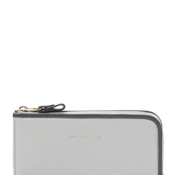 See by Chloe Women's Leather Half Zip Wallet - White