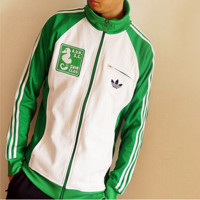 ADIDAS Collar casual jacket cardigan Green