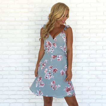First Bloom Floral Wrap Dress