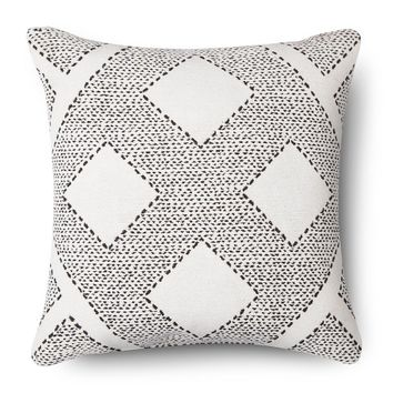 Diamond Kilim Decorative Pillow - White - Threshold™