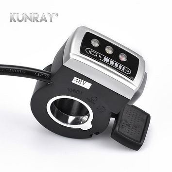 Wuxing 106DX 36VLi 48VLi Thumb Throttle With ON-OFF Switch And Battery Indicator Electric Scooter Ebike Finger Throttles RoHS