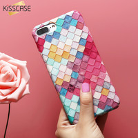 KISSCASE For iPhone 7 7 Plus 6 6S Plus Mermaid 3D Scales Squama Hard PC Phone Cases Girl Cover For iPhone 6 6S Plus 7 Plus Case