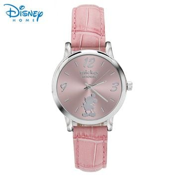 Disney Ladies Watches 2018 Fashion Women Watch Brand Leather Band Luxury Casual Relogio Feminino Luxo Saat Mickey Mouse Watch