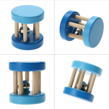 Wooden Spiral Rattles for Babies