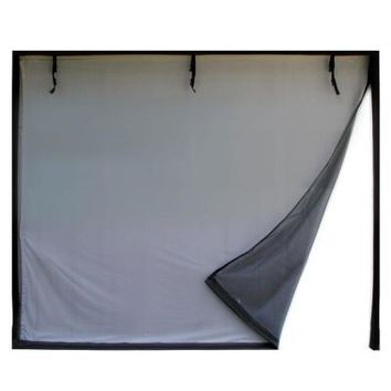 Fresh Air Screens 8 ft. x 7 ft. 2-Zipper Garage Door Screen-1231-C-87 at The Home Depot