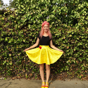 Belle inspired Disneybounding circle skirt