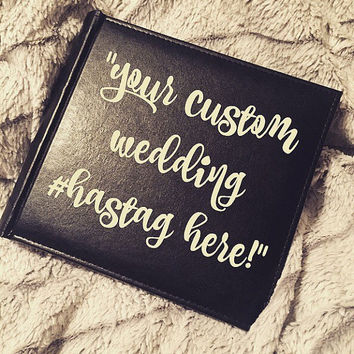 Custom Wedding Hashtag Photo Album; Custom Picture Book; Friendship Gift; Bridal Gift; Grooms Gift; Bridesmaids; Bridal Shower Gift; Funny