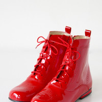 DOLLY by Le Petit Tom ® CLASSIC DOLL BOOT 4GBOOT RED Patent