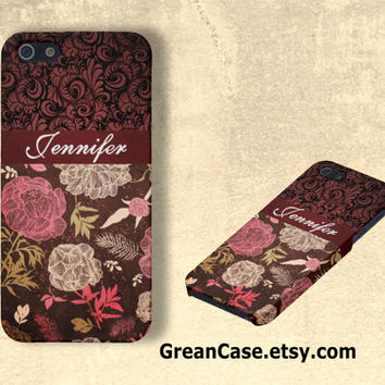 Personalized iPhone Case , Vintage Rose , Vintage Grunge , Luxury iPhone : iPhone 4 Case , iPhone 5 Case , Galaxy S3 Case , Galaxy S4 Case