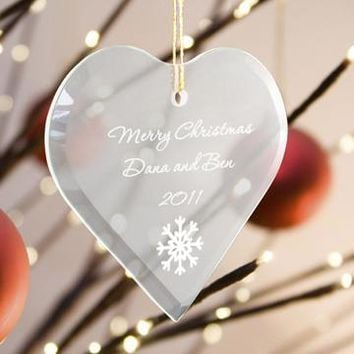Beveled Glass Ornament-Heart Shaped