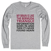 My Brain Is Like The Bermuda Triangle-Unisex Heather Grey T-Shirt
