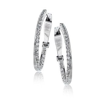 14k White Gold .48ct Diamond Earrings
