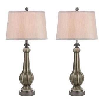 Sailsbury Table Lamps in Georgia Grey Glaze - Set of 2 Georgia Grey Glaze