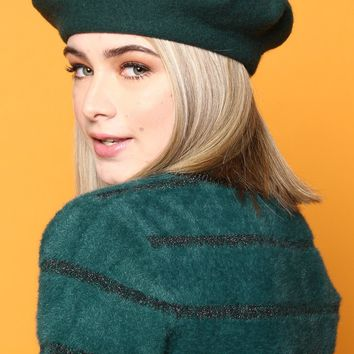 Must Have Wool Beret - Hunter Green