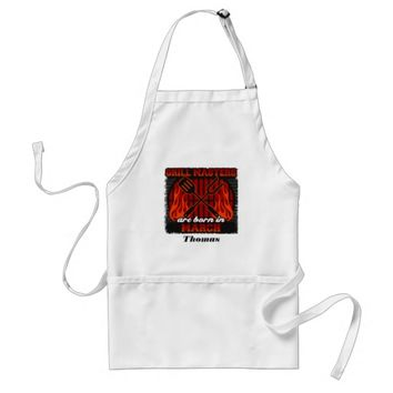Grill Masters Are Born In March Personalized Adult Apron