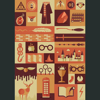 Harry Potter Items Poster