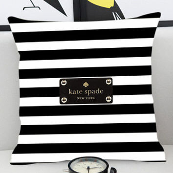 Kate Spade Striped - Pillow Cover by PillowKesetiaan.