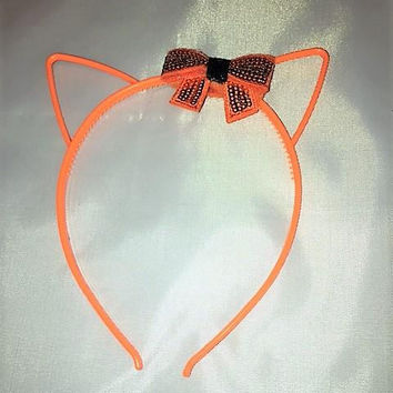 Halloween Headband, Cupcake Headband, Cosplay Headband, Valentine Accessory, Cat Ears, Gothic Gift, Bow Headband, Gift for Girls, Holiday