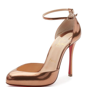 Christian Louboutin Dollyla Patent 100mm Red Sole Pump, Cappuccino