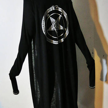 Hell Couture White Pentagram Studded Robe