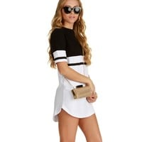 Black Colorblock Tunic