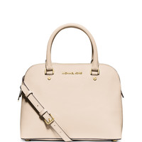 Cindy Medium Dome Satchel Bag, Ecru - MICHAEL Michael Kors