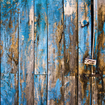 Blue Distressed Wood - Photography Backdrop