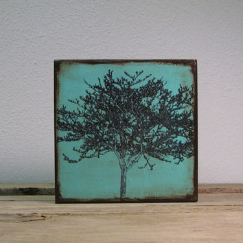 Tree Silhouette Landscape Art Block Painting---MatchBlox-1679