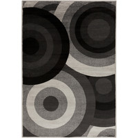 Black Circles Coal Black Area Rug (7'9 x 11'2) | Overstock.com Shopping - The Best Deals on 7x9 - 10x14 Rugs