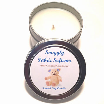 4 oz Snuggle- Fabric Softener Scented Candle - Christmas Gift, Stocking Stuffer, Hanukkah and Kwanzaa gift