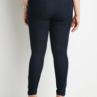 Plus Size Flat-Front High-Waisted Skinny Jeans