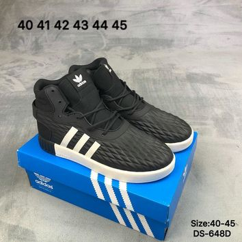 Adidas TUBULAR INVADER STRAP LOS ANGELES Men Women High-Top Fashion Casual Sports Skate Shoes Grey/Black 2 Colors