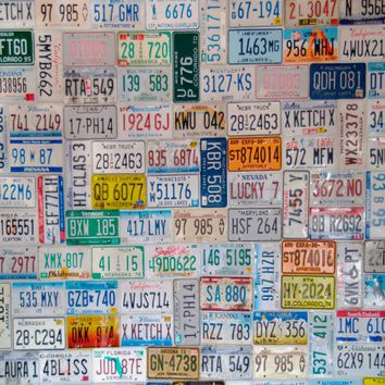 License Plate Printed Photography Background / 127