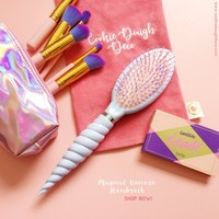 FREE SHIPPING  Magical Unicorn Hairbrush®  - Purple Pearl / Iridescent