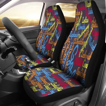 Custom-Made Holy Bible Books Grey Mixed Color Car Seat Covers