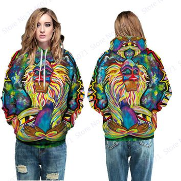 Abstract Sunglass Ape Hooded Skateboarding Hoodies Sweatshirts Oil Painting Tracksuits Women Streetwear Sport Suit Autumn Winter