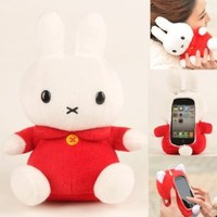 Authentic iPlush Plush Toy Cell Phone Case for iPhone 4 / 4S - Company Direct Sell 100 Percent Authentic (Red Rabbit)