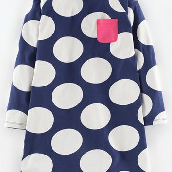 Girl's Mini Boden 'Fun Spot' Jersey Dress,