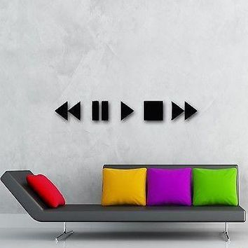 Wall Stickers Vinyl Decal Audio Video Button Modern Home Decor Unique Gift (ig983)