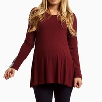 Burgundy-Chevron-Embroidered-Accent-Top