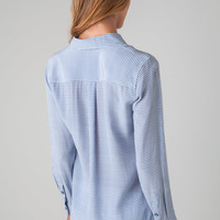 Equipment Slim Signature Shirt in Blue Jean & Bright White