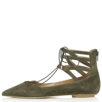 KATHY Ghillie Pointed Shoes - Green
