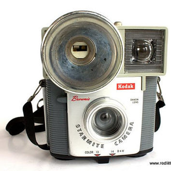 Vintage Camera- Kodak Eastman Brownie Starmite , 1960s, 127 film, plastic camera,  Vintage Home Decor