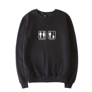 Girlfriend Wife Screaming - Problem Solved Guitar Crewneck Sweater