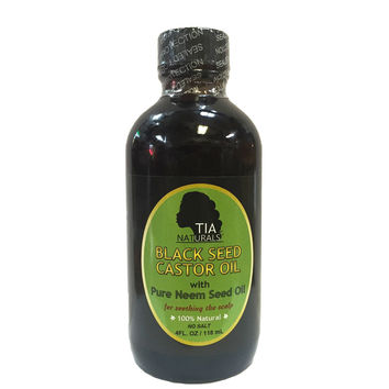 Tia Naturals Black Seed Castor Oil with Neem Seed Oil 4Oz