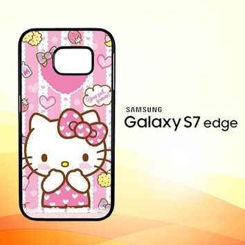 Hello Kitty Candy Pink L1944 Samsung Galaxy S7 Edge Case