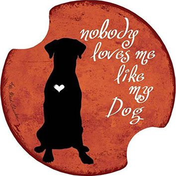 Thirstystone Nobody Loves Me Dog Car Cup Holder Coaster 2Pack