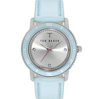 Pastel leather strap watch - Pale Blue | Watches | Ted Baker UK